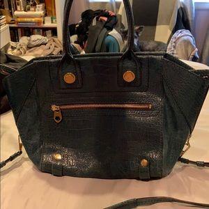 Oryany Green crock embossed leather bag